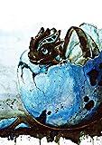 Tiny Tami Drachenei Postkarte Drache - Aquarell - Grußkarte - Drachenkarte Liebe -Geburt