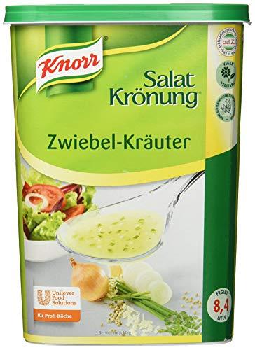 Knorr Salatkrönung Zwiebel Kräuter Dressing (Trockenmischung für klare Salatdressings mit ausgesuchten Kräutern, Gewürzen und Zwiebel) 1er Pack (1 x 1 kg)
