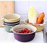 BOLANQ Küchenfilter Kunststoff Geschirrbecken Abflusskorb Geschirrspüler 2-in-1-Küchensieb/Küchenfilter Schüssel Set Nudelfilter