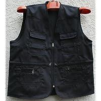 GDS/Multi bolsillo vest. proyecto publicidad fotografía ocio pesca chaleco chaleco, HIDEBLUE-XXXL
