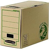 Fellowes Bankers Box - Caja de almacenaje (A4, lomo 200 mm), color marrón