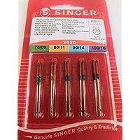 Agujas para máquina de coser Singer, varios tamaños (70/9, 80/