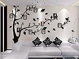Missley 3D Acryl Riesige Baum Bilderrahmen Wandaufkleber Wandaufkleber mit Abnehmbaren