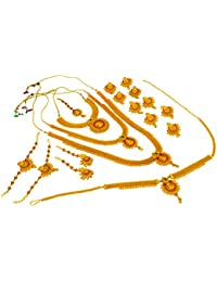 APSARA The Shining Diva Traditional Ethnic Gold Plated/Copper Designer Bridal Set Temple Jewelry/Dulhan Setl Necklace...