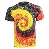 Colortone Damen Batikdruck-T-Shirt Farben-Regenbogen