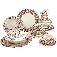 Creatable 19716Serie Deco Chic Rosa, Vajilla, porcelana, multicolor, 40x 32,5x 32,5cm, 30unidades