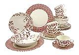 Creatable 19716 Serie Deco Chic pink, Kombiservice, Porzellan, mehrfarbig, 40 x 32,5 x 32,5 cm, 30 Einheiten