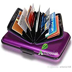 Business Card, ATM Card, Credit Card Wallet Holder Aluminum Metal Case Box, Hard Case Wallet ID,debit card holder (1)
