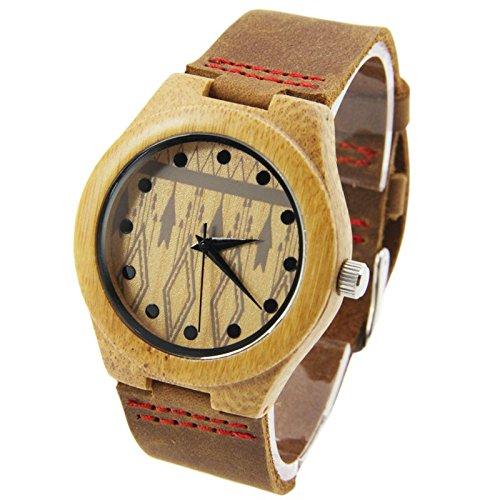 GDS Das neue Holz-Uhren / Unisex / natürliche Holz / Bambus / paar Uhr / Leder Armband / Geschenk / tragbar / Zubehör , 44mm