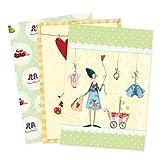 3er Set Glückwunschkarten zur Geburt von Silke Leffler Motiv Kindersachen