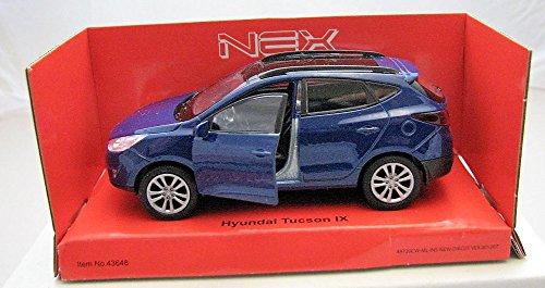 Welly DieCast metall Modellauto 1:36-39 Hyundai Tucson IX blau neu und box Hyundai Modell Auto