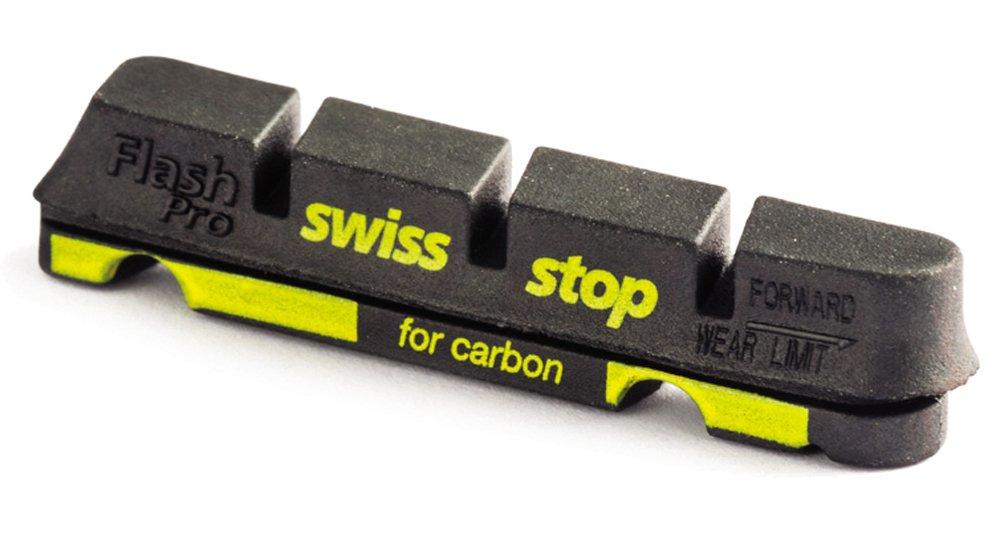 SwissStop Race - Pattini freno FLASH PRO Black Prince per cerchioni in carbonio, 4 pz.