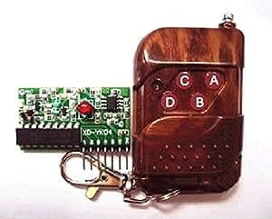 XT-XINTE Quatre façons 2262/2272 Kit sans fil de contrôle à distance M4 bloquent le récepteur avec télécommande 4 touches Télécommande sans fil