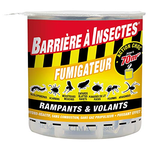 BARRIERE A INSECTES Fumigène hydro réactif contre les insectes volants et rampants, 10 g, BARSMOKE10