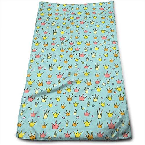 RAINNY Crown Princess Towels Multi-Purpose Microfiber Soft Fast Drying Travel Gym Home Hotel Office Washcloths 30x70 cm - Bancroft Single