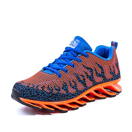 WYWQ Scarpe da corsa Scarpe da ginnastica per il tempo libero da uomo Scarpe da ginnastica traspiranti Comfort Autunno tessuto invernale Scarpe da trekking tacco piatto da basket orange