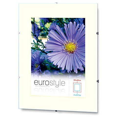 10x Rahmenloser Bilderrahmen Bildhalter Cliprahmen 30x45cm Acrylglas