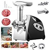 Ammiy® Electric Meat Mincer Grinder and Sausage Maker,Powerful 2800 Watt Copper Motor (Black)