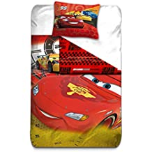 aymax s.p.r.l Cars 3funda de edredón Reversible con funda de almohada, microfibra, rojo, 200x 140cm