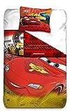 AYMAX S.P.R.L Cars 3 Housse de Couette réversible avec Taie d'oreiller, Microfibre, Rouge, 200x140 cm