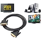 LipiWorld® DVI-D 24+1 Gold Plated Pin Male To Male Dual Link Adapter Video Cable For LCD Digital Monitor (DVI-D To DVI-D)