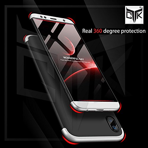 pretty nice 8c0bc 0ee2a TheGiftKart Asus Zenfone Max Pro M1 Back Case Cover: Full Body 3-in-1 Slim  Fit Complete 3D 360 Degree Protection Hybrid Hard Bumper (Black & Silver)  ...