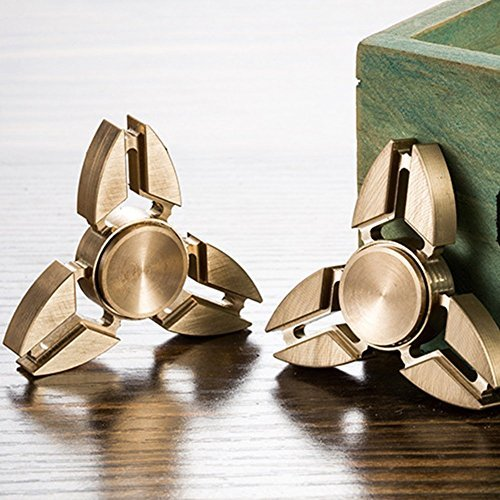 TANAINA Hybrid Ceramic Triangle Hand Spinner Toy Stress Anxiety Relief for Kids Adults - 2
