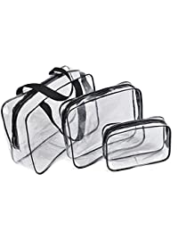 Neceser de Maquillaje Cosmético Bolsa,Bolso de viaje de viaje de viaje transparente Bolso de viaje de regalo de 3 en 1 bolsas de plástico Bolso de viaje de PVC transparente Bolso de viaje