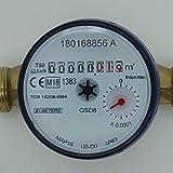 Wasserzähler QN 1,5 Kaltwasser, BL 110 mm 1/2 Zoll Beste Messgenauigkeit