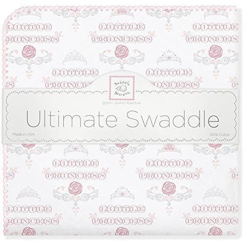 SwaddleDesigns Ultimatives Pucktuch, Premium Baumwollflannell, Kleine Prinzessin, Pastellrosa