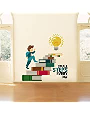 Rawpockets 'Small Steps Every Day Motivation Quote' Wall Sticker (PVC Vinyl, 0.99 cm x 85 cm x 85 cm)
