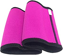 ROSENICE Arm Slimming Compression Shaper Elastic Sweat Absorption Armband Weight Loss Arm Shaper for Women Lady Girl Size XL (Rosy)