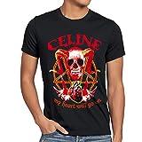 style3 CELINE Heavy Metal Herren T-Shirt my heart, Größe:XXXL;Farbe:Schwarz