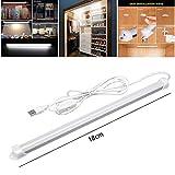 Surenhap LED Unterbauleuchte, Schrankleuchte 5630 SMD Kaltweiß mit 1,5m USB Kabel EIN/Aus-Schlüssel für Schrank, Flur, Unter-Kabinett, Bar-Licht-Lampe Dachboden, Treppen usw. (18CM)