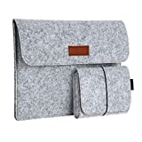 Insense Fashion Fashion Soft Sleeve Bag Case for Apple MacBook Laptop Anti-Scratch Cover for Mac Book 12 Inch Light Grey