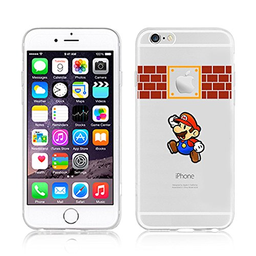 NEW DISNEY CARTOONS TRANSPARENT CLEAR TPU SOFT CASE FOR APPLE IPHONE 7 PLUS BUNNY 1 MARIO