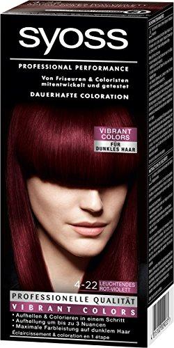 Syoss Coloration 4-22 Leuchtendes Rot-Violett, 3er Pack (3 x 115 ml)