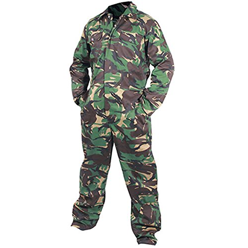 Camouflage Armee Erwachsene Overalls Overall Arbeitskleidung Blaumann Militär DPM Paintball Jagd - Wald Tarnfarbe Grün/Braun/Stein, M
