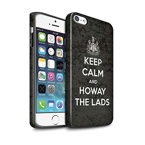 Offiziell Newcastle United FC Hülle / Matte Harten Stoßfest Case für Apple iPhone SE / Pack 7pcs Muster / NUFC Keep Calm Kollektion Howay Jungs