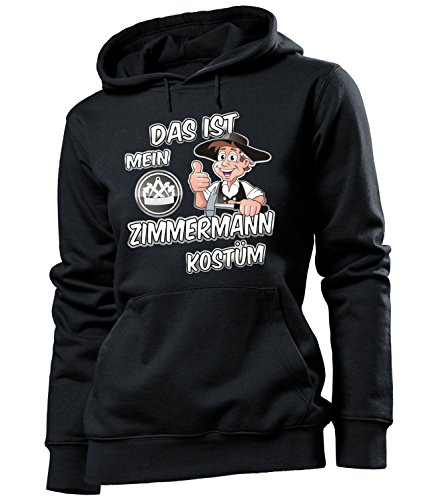 Das ist mein ZIMMERMANN Kostüm 4986 Damen Hoodie (FKP-SW) Gr. XL (Zimmermann Kostüme)
