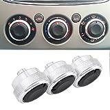 Boomboost Aluminiumlegierung Auto Klimaanlage Switch Knopf Schaltknopf betätigen Silber