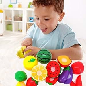 Culater® 1 Set Coupe Fruit Légumes Jeux de Simulation Jouet éducatif Enfants