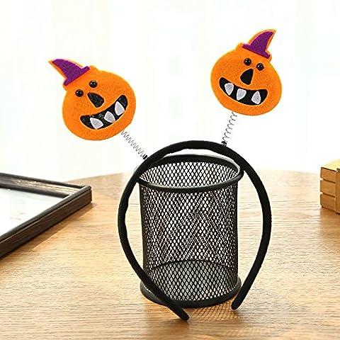 Zantec Nettes Halloween scherzt Stirnband Lustiges Schädel Schläger Hexe Kürbis Haar Band Kopfstück Halloween Kostüm Partei kreatives (Einfache Katze-kostüme Für Frauen)