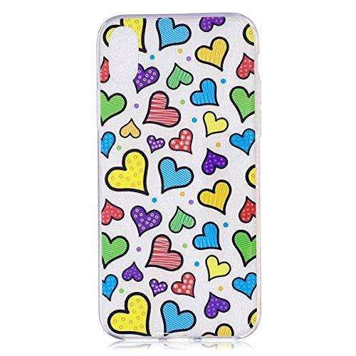 inShang iPhone XS iPhone X 5.8 inch Coque étui pour téléphone Portable, Anti Slip, Ultra Mince et léger, étui Rigide Fait dans Le matériel de TPU, Housse Mate9 Coque