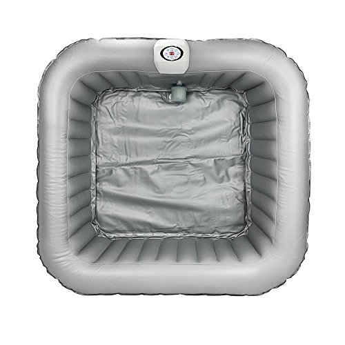 AQUAPARX Whirlpool AP-600SPA *rechteckig 155x155x65 cm* Pool Wellness Spa Whirlpoolzubehör Badewanne Wanne Indoor Outdoor Heizung aufblasbar - 3
