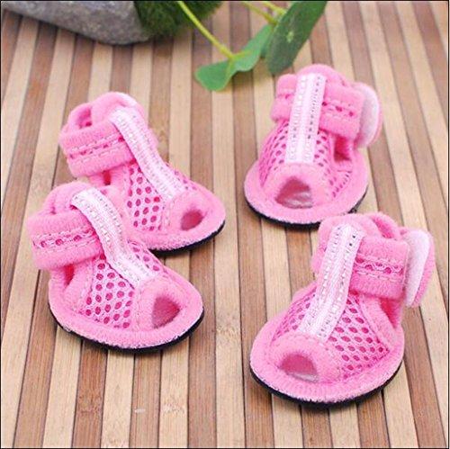 WSS Rete a maglia Sandali cane scarpe qualità animali gatti scarpa con mesh traspirante scarpe sandali . b . 2