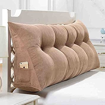 Sofa Pillow Bedside Cushions Large Bed Headboard Pillow Sofa Cushion Large  Backrest Removable And Washable Household Pillow Office Lumbar Pillow (  Size ...