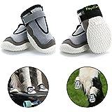RoyalCare Pfotenschutz Hundestiefel, Set 4 atmungsaktive Loch und Rutschfeste Hund Schuhe für große Hunde in heißen Sommer 4#