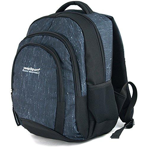 YeepSport Schul Rucksack Ranzen Mädchen Junge Sport Tasche 30L groß leicht stabil 21811 Jeans Blue