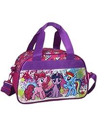 23 x 21 x 9 cm 12 Equestria Girls Sticker Fans Tasche//Umh/ängetasche mit glitzender Vorderseite My little Pony 2 TLG Super Set